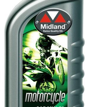 Midland 20W-50 Mineral MC olja 1 liter  1 kart.12 liter 21717-12 + Gratis oljefiltertill MC