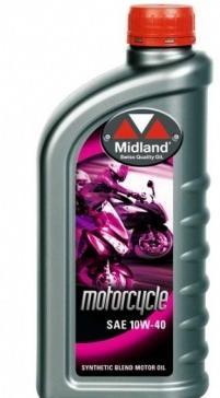 Midland 10W-40 Delsyntet Motorcykelolja 1 liter x 12 liter 21716-12